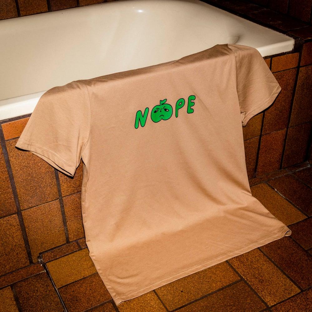 Image of Nope T-shirt Camel