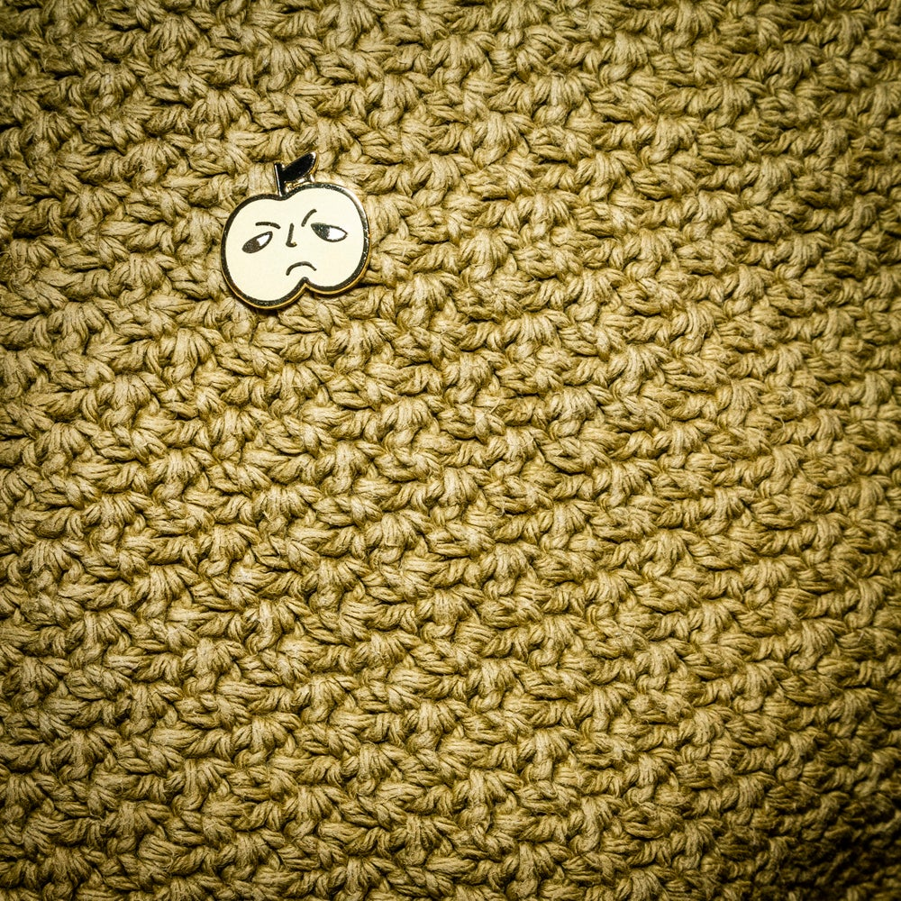 Image of Grumpy Apple Enamel Pin