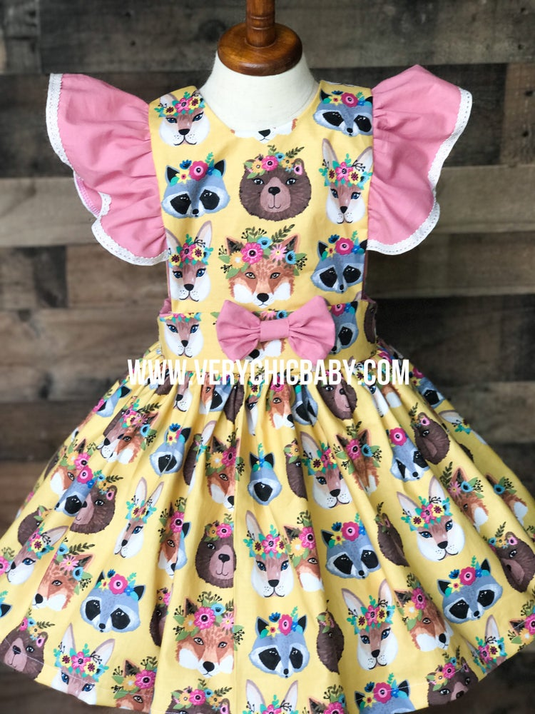 Image of Flower Crown Pinny Dress