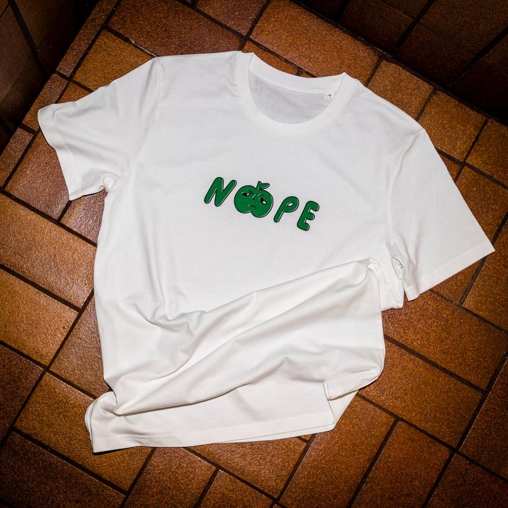 Image of Nope T-shirt Vintage White