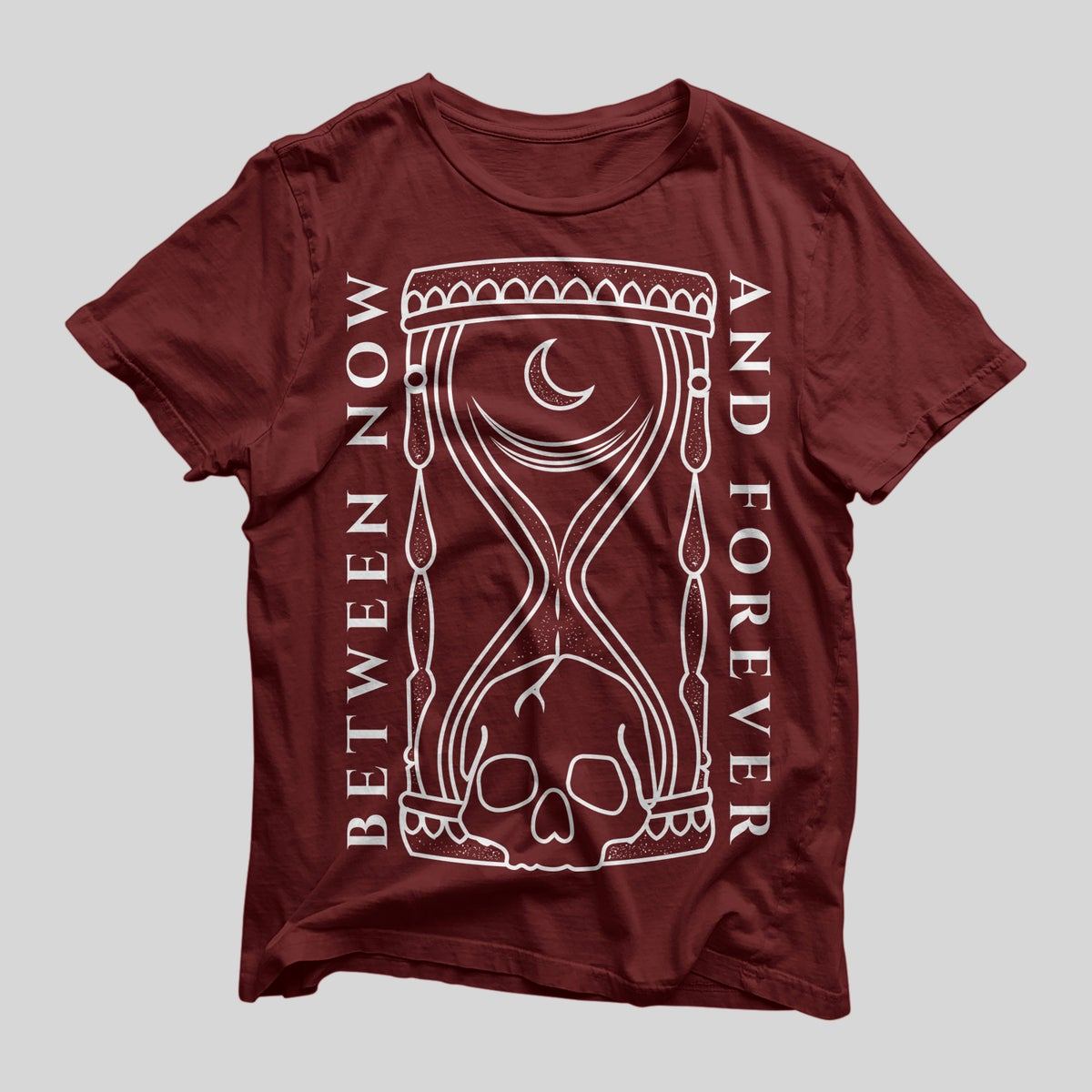Image of Hourglass Tee - Maroon and White