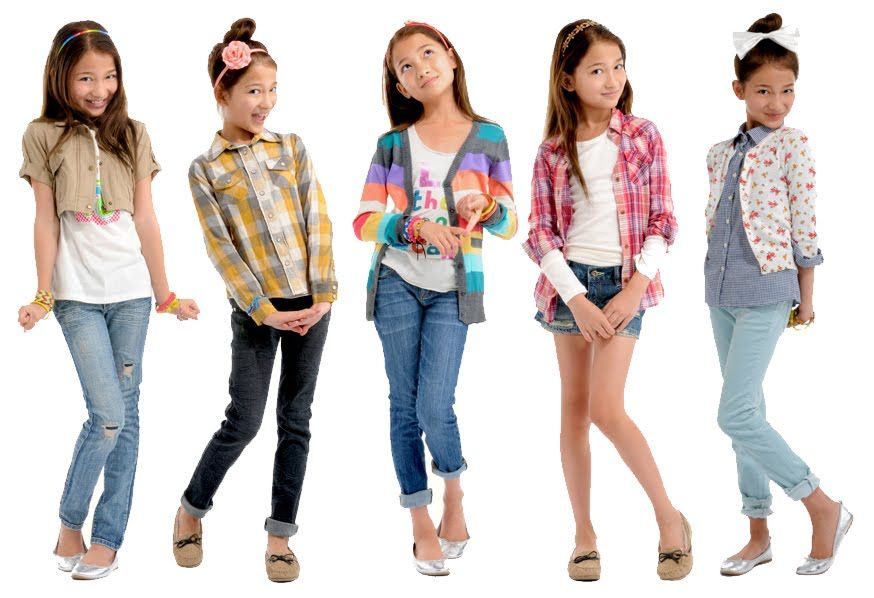 Image of #35 Back to school clothing and shoes for elementary girl