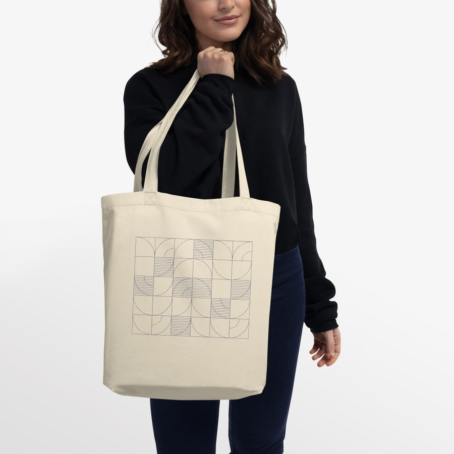Image of Geometric Harvest Organic Eco Tote Bag