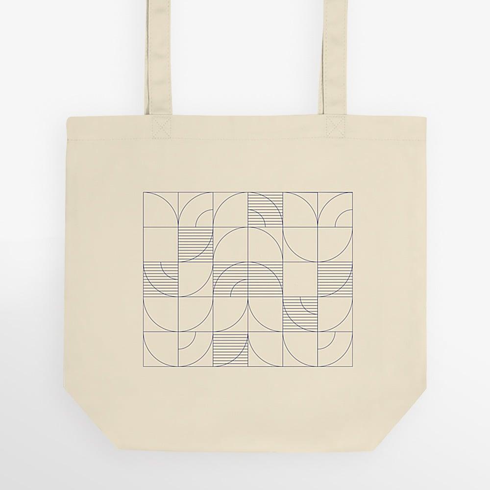 Image of Geometric Harvest Organic Eco Tote Bag