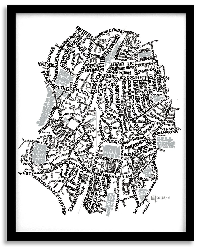 Image of Sydenham SE26 & Forest Hill SE23 - SE London Type Map - White