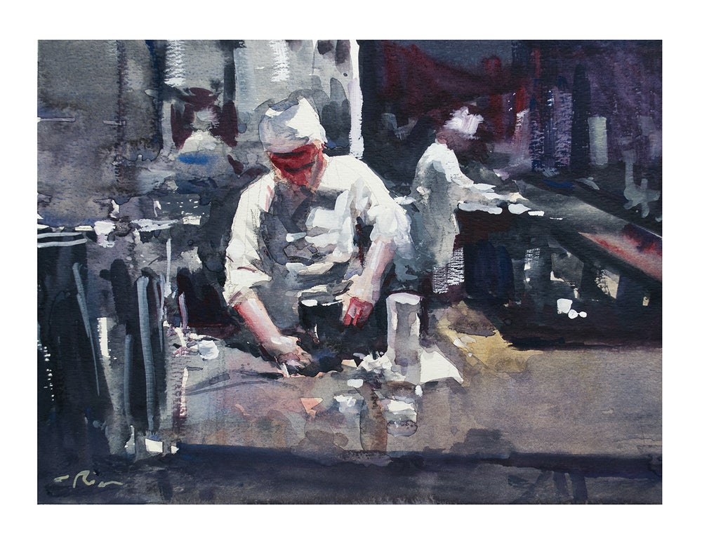 """Image of """"Two Cooks"""" print"""