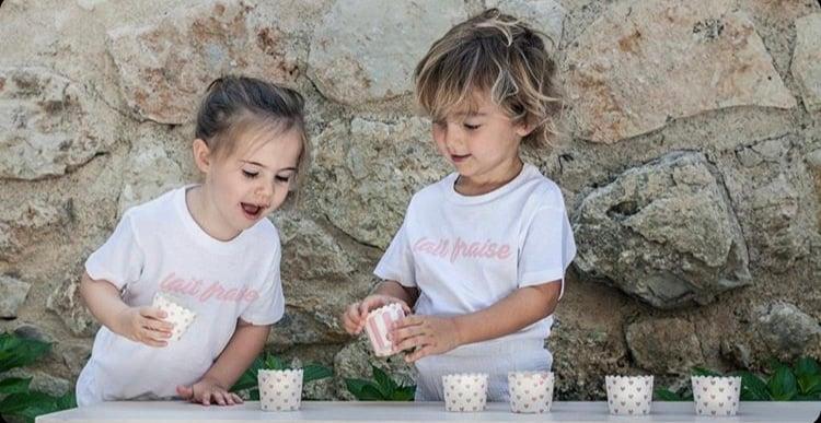 Image of Tee Shirt enfant Lait Fraise