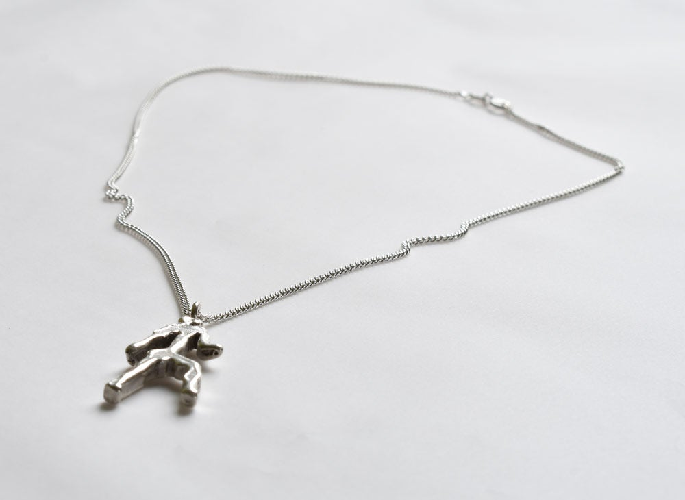 Image of Mackenzie Man Limited Edition Pendant - Solid silver, hand made comes with a silver chain