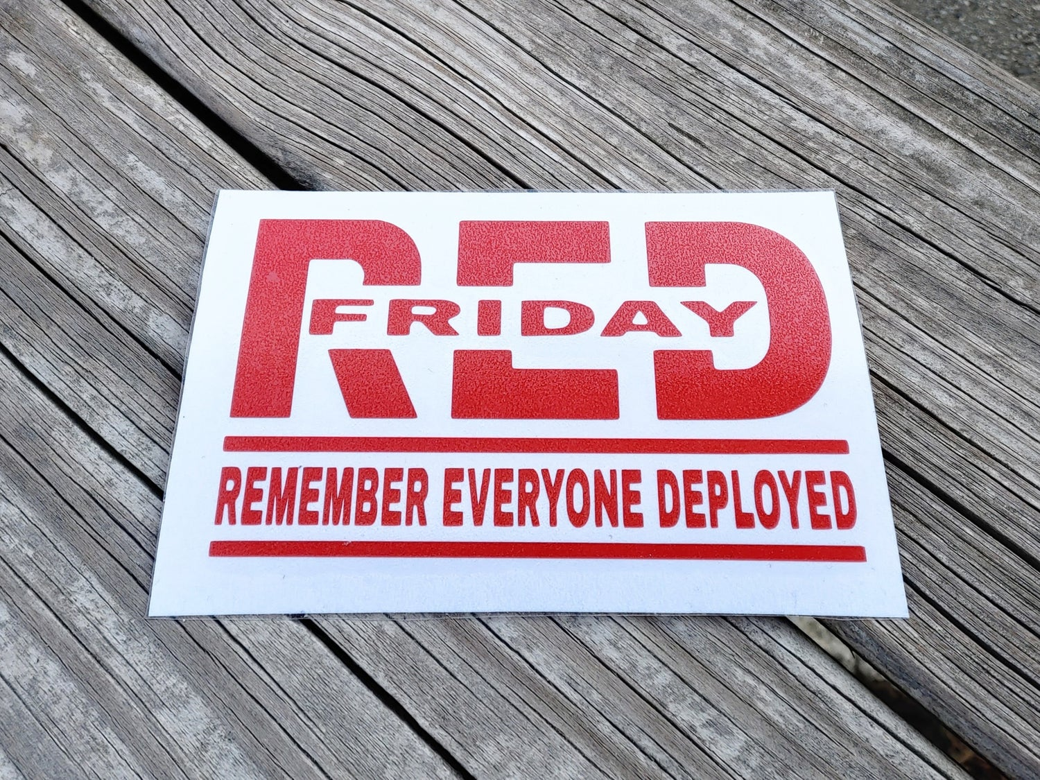 R.E.D. Friday Command Decal