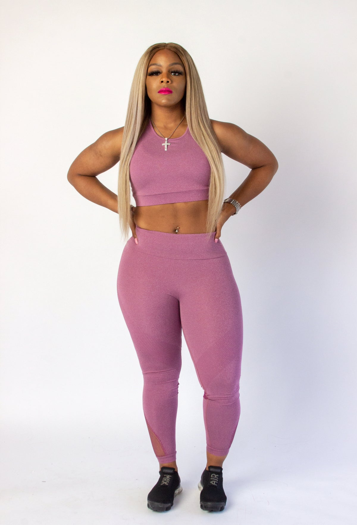 "Image of ""Pinky Vibes"" 2 Piece Fitness Set"