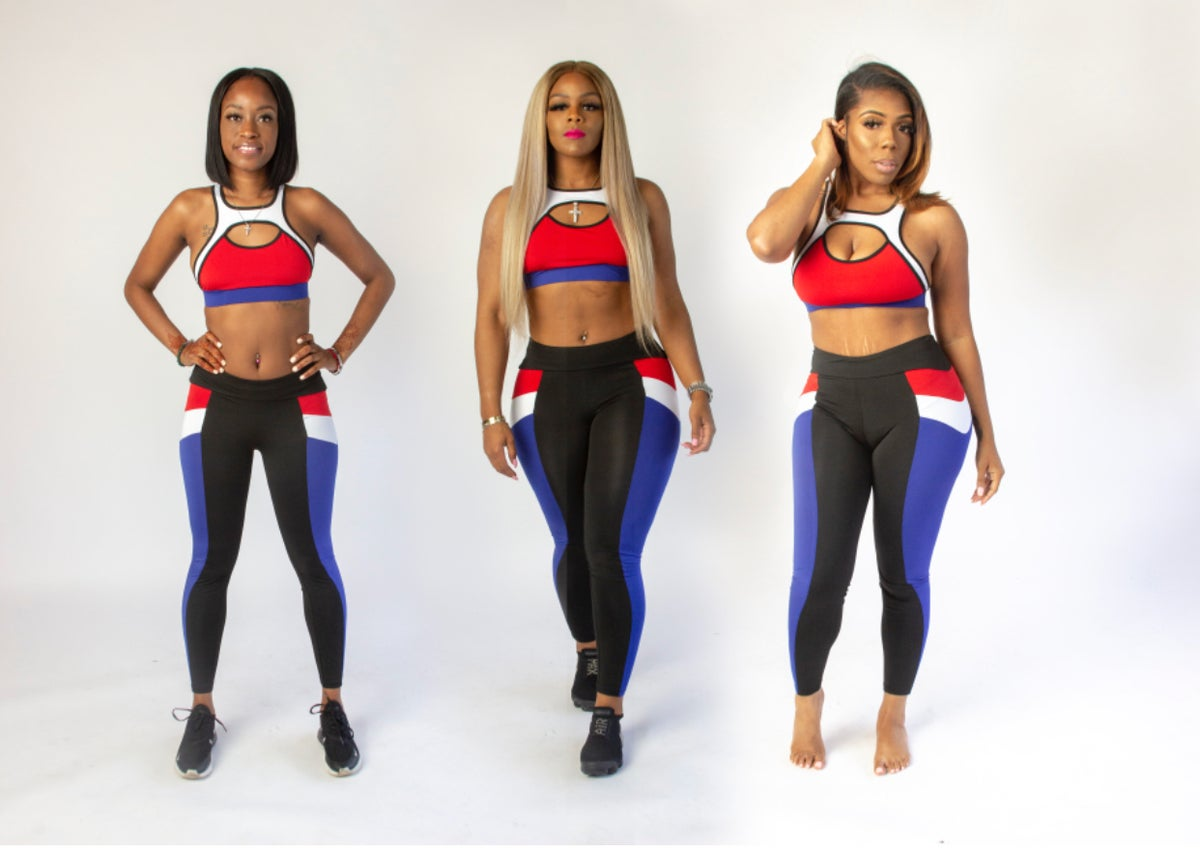 "Image of Red White & ""True"" Fitness Tights"