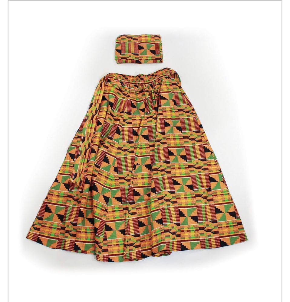 Image of Kente Long African Skirt#1