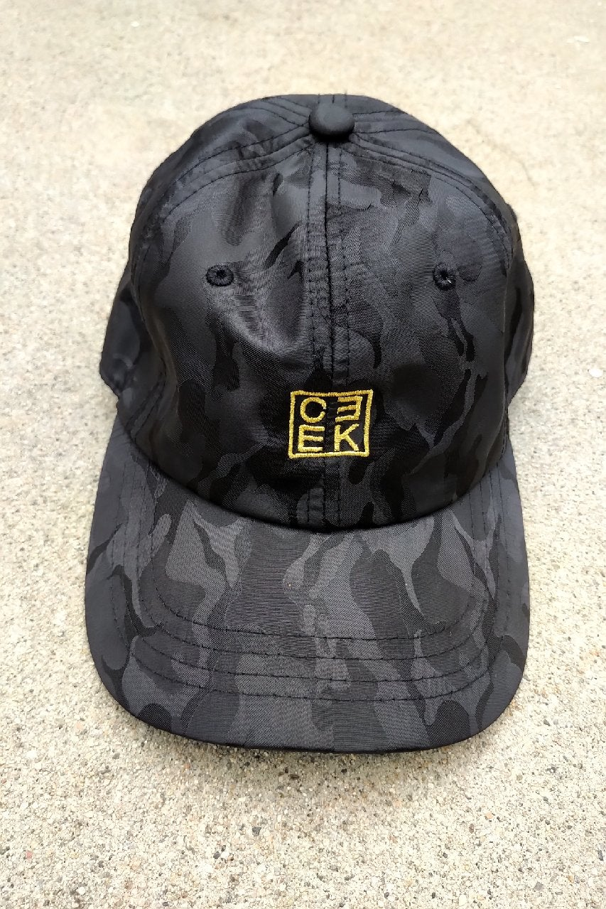 Image of CEEK Slick Black Camo Dad Hat
