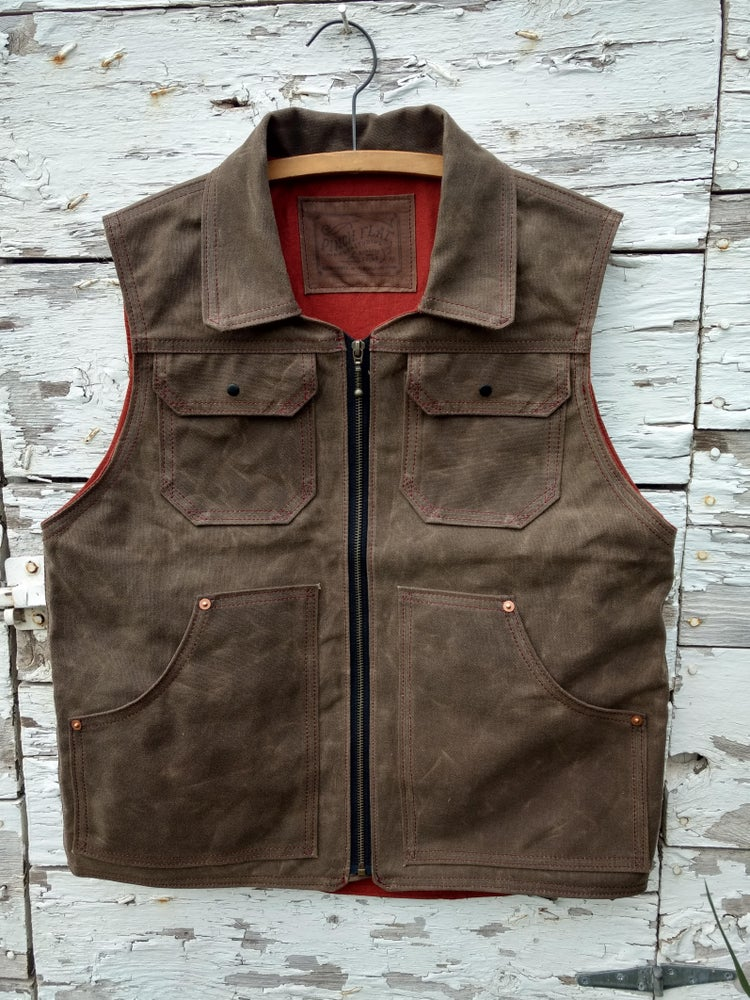 Image of Waxed Canvas Vest (Medium)