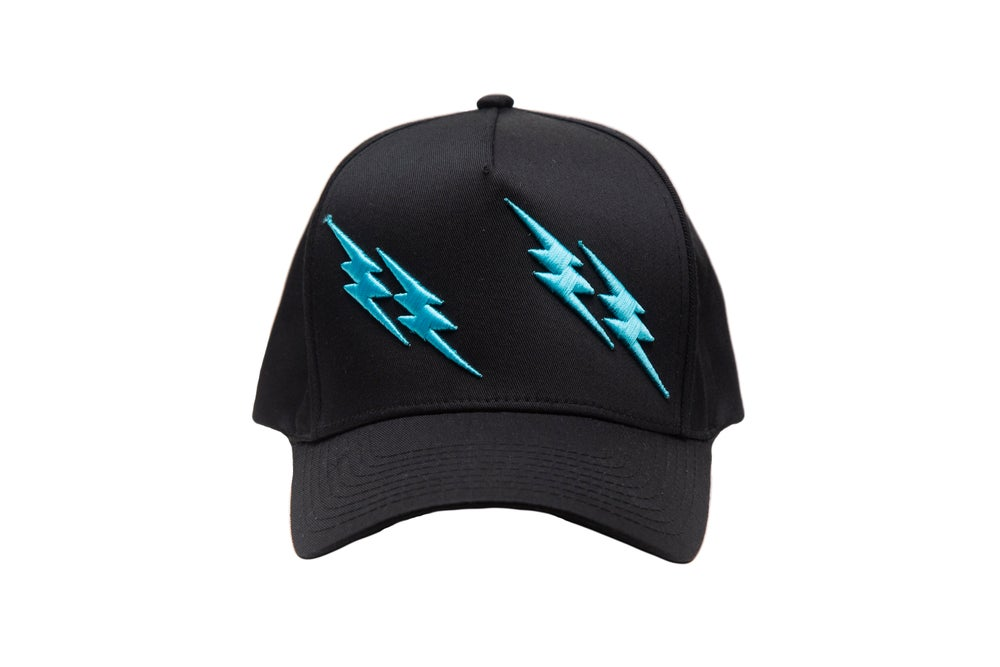 Image of  Black and Blue Double Strike Trucker