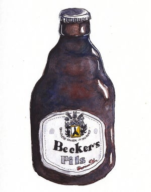 Image of Beckers Bier Stubbi Illustration