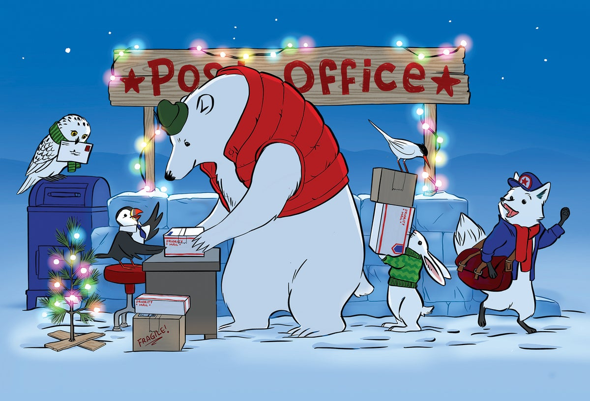 Image of NEW! Polar Post Postcard—Pack of 75
