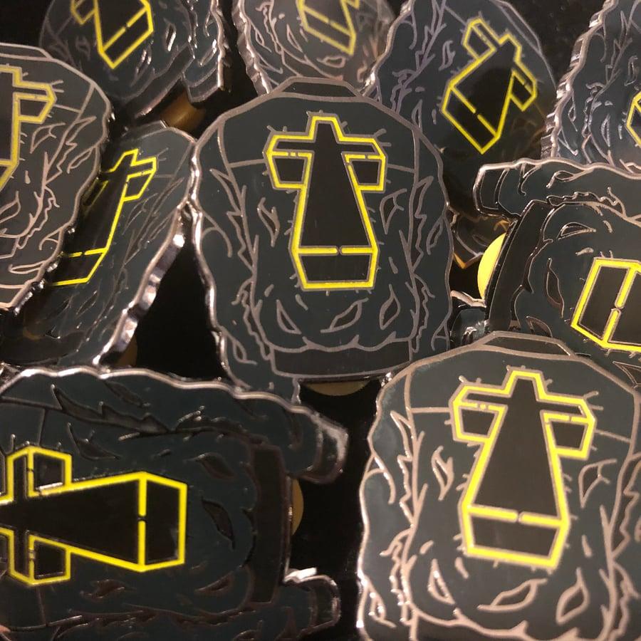 Image of Stress Jacket (Glow, Hard Enamel Pin)