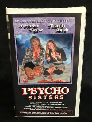 Image of Psycho Sisters 1994 VHS Pete Jacelone SOV W.A.V.E. Limited Edition