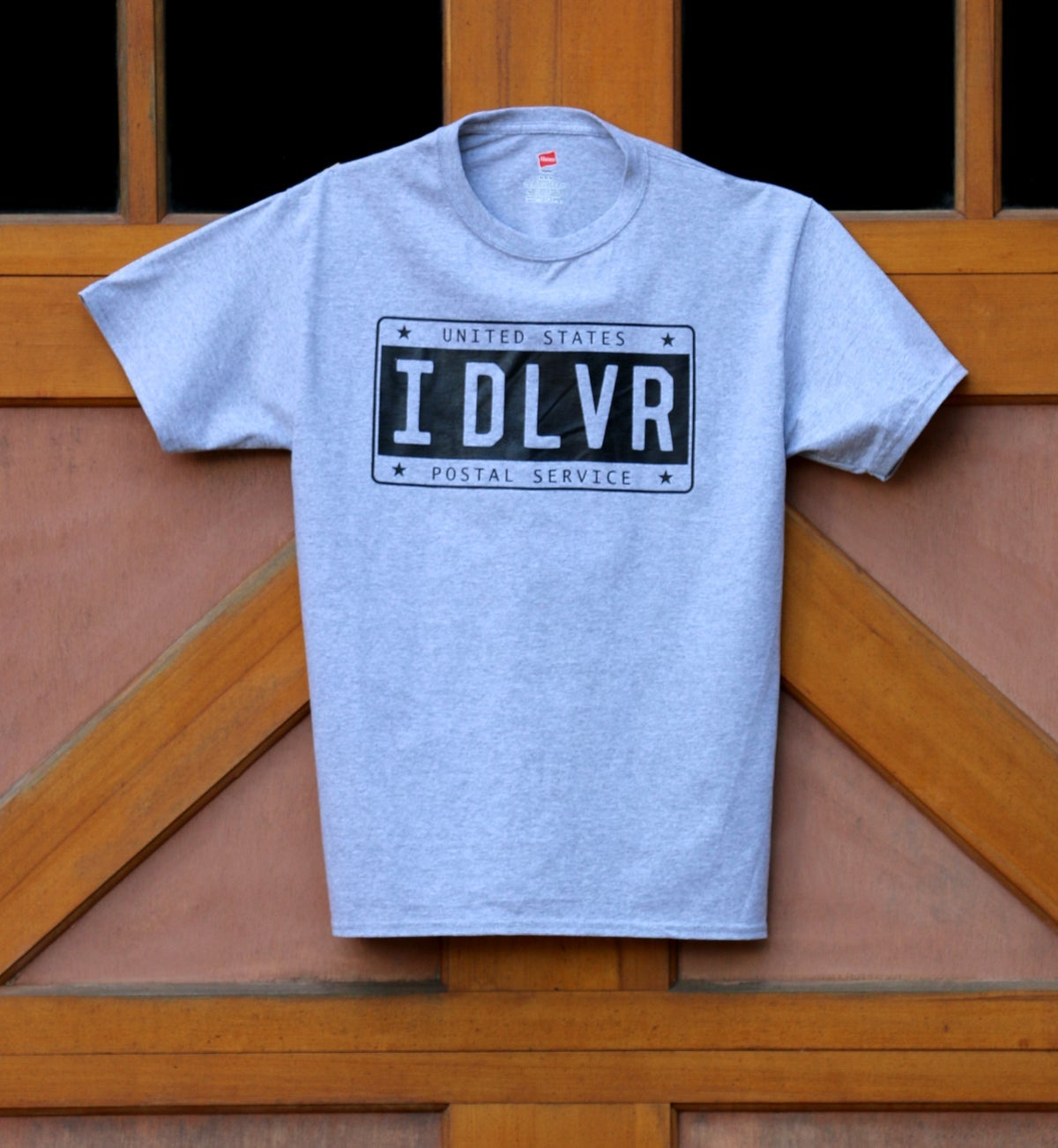 Image of IDLVR License Plate Tee - Light Steel Heather