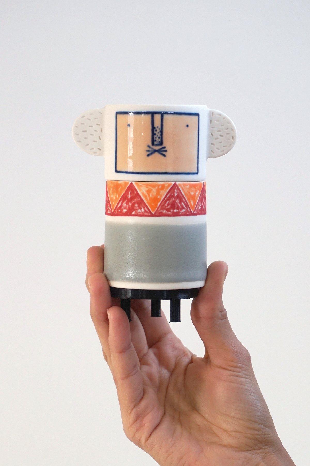 Image of Louis – Ceramic Totem Sculpture