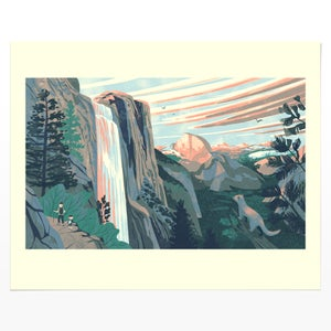 Image of National Parks of the USA. - Yosemite (giclee print)