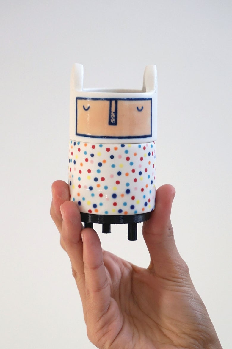 Image of Jeff – Ceramic Totem Sculpture