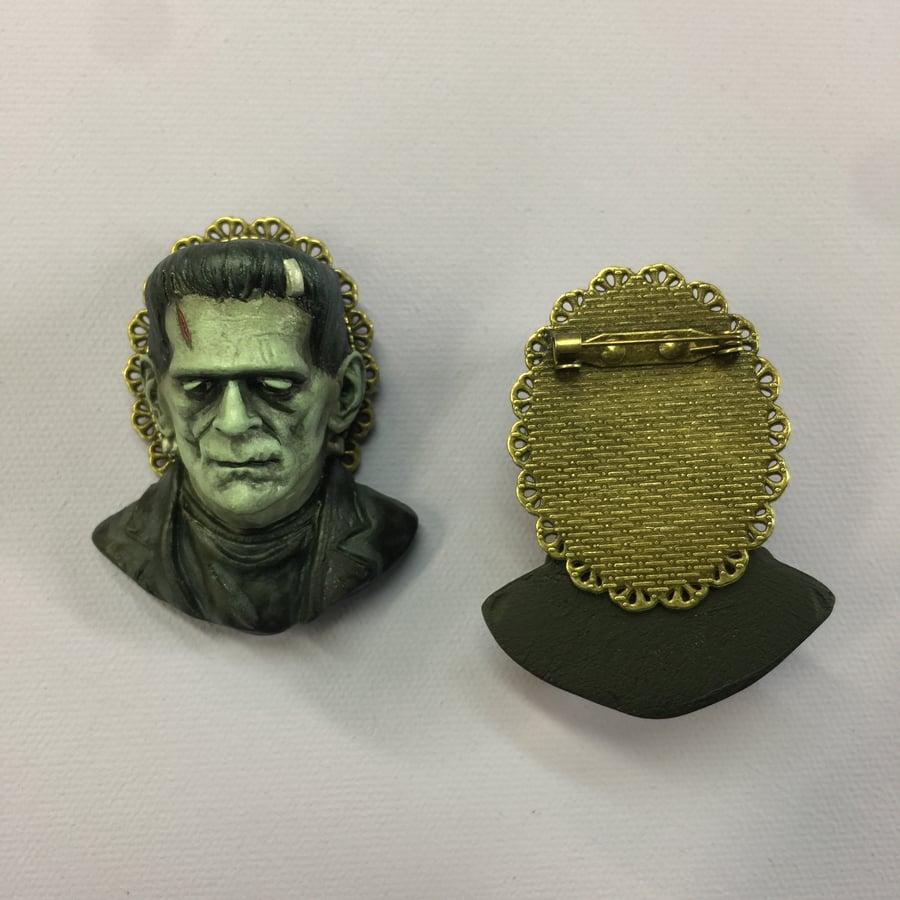 Image of PRE ORDER Frankenstein's Monster in Color Brooch