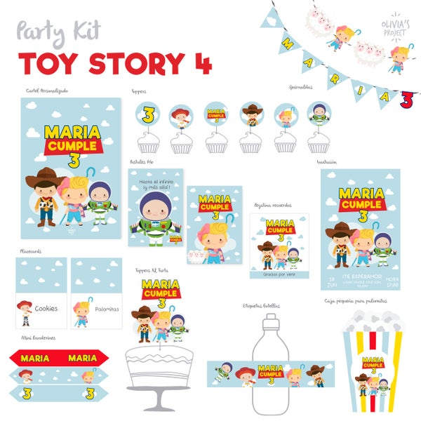 Image of Party Kit Toy Story 4 Impreso