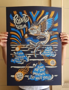 Image of POINTU FESTIVAL (21018) screenprinted poster and t-shirts