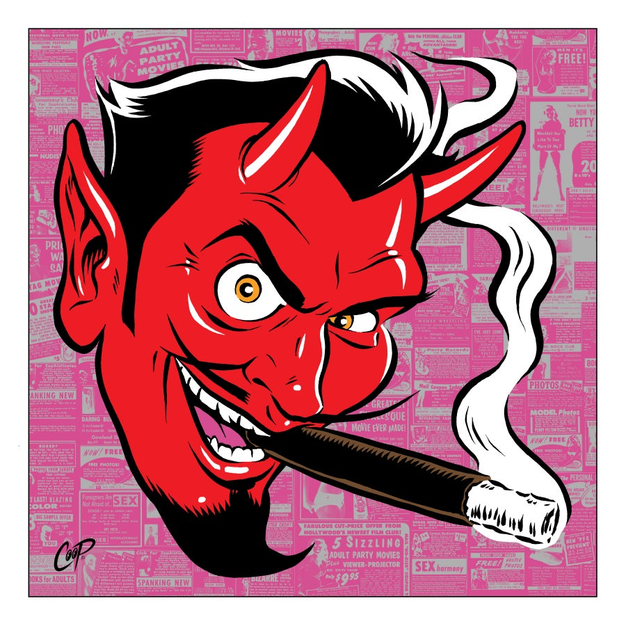 Image of SMOKING DEVIL silkscreen print