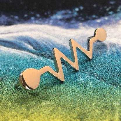 Image of Resistor Symbol Metal Pin