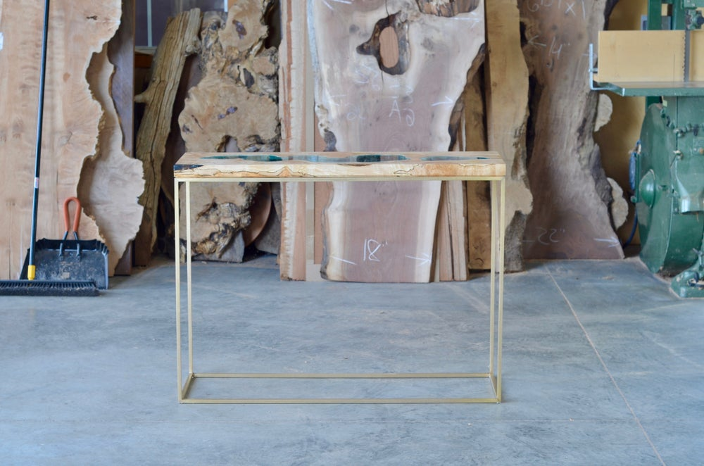 Image of two lake console table