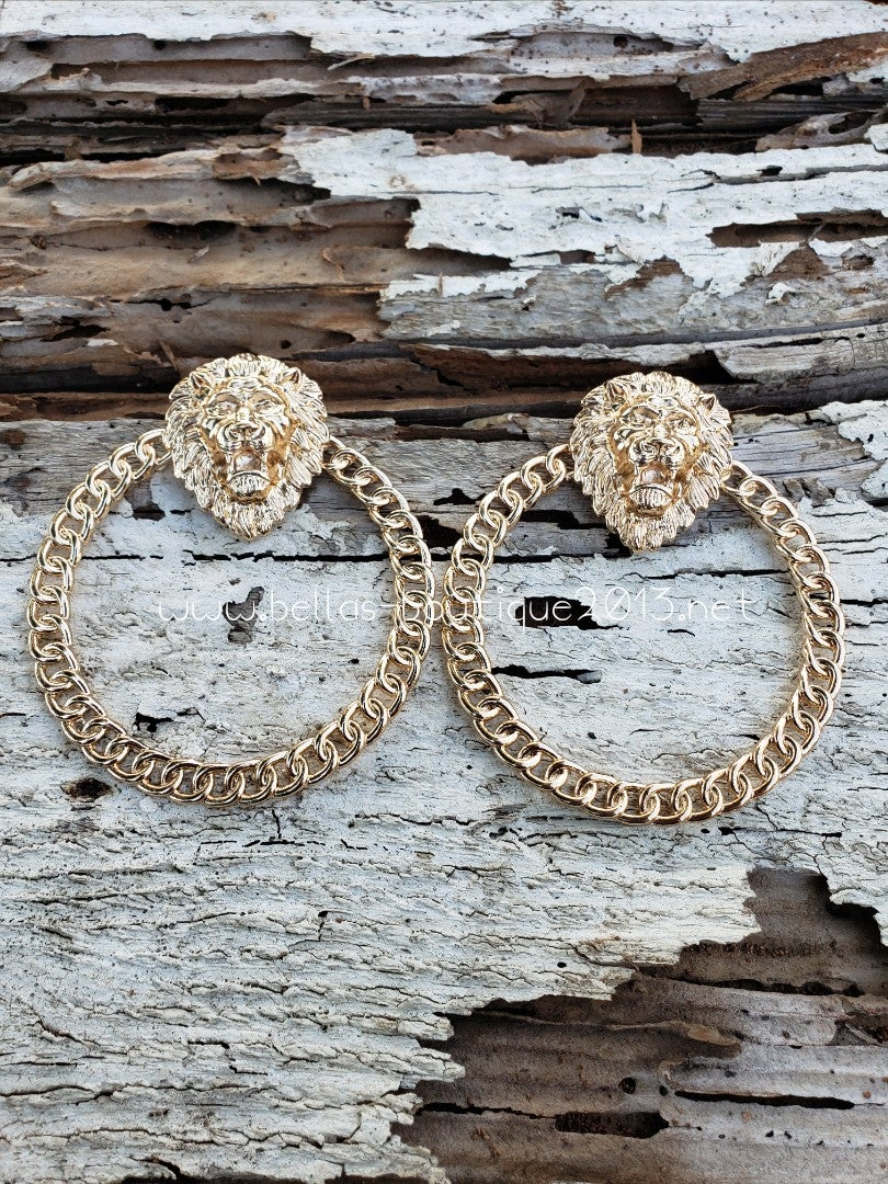 Image of Lion Hoop Earring