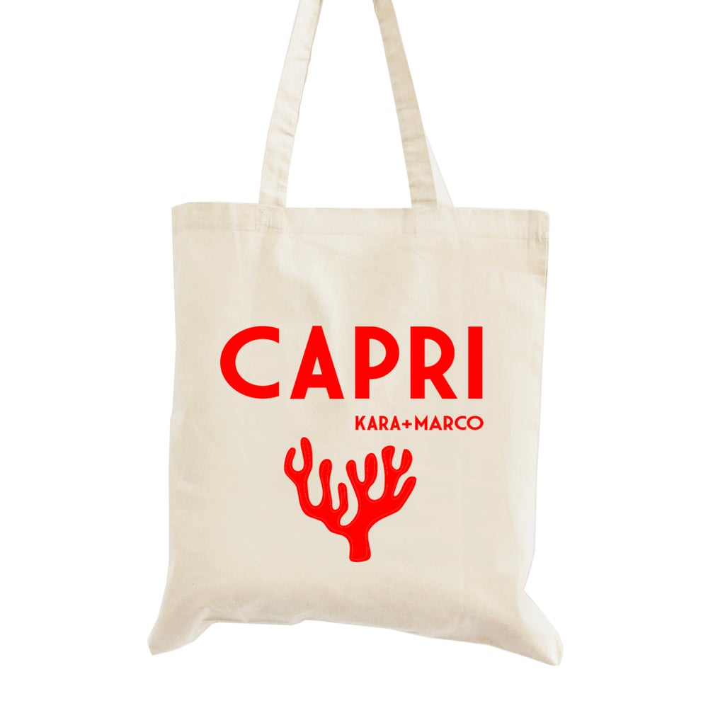 Image of Customizable Coral Wedding Welcome Tote Bag