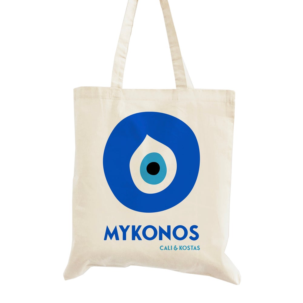 Image of Customizable Evil Eye Wedding Welcome Tote Bag