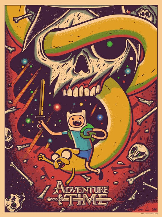 Image of Adventure Time - Screenprint