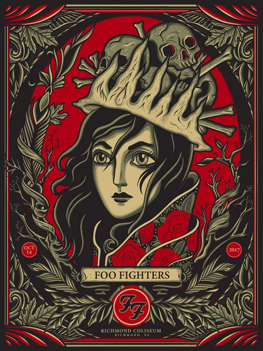 Image of Foo Fighters - Richmond 2017 - Poster