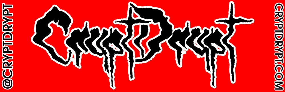 Image of CRYPT DRYPT Logo Sticker