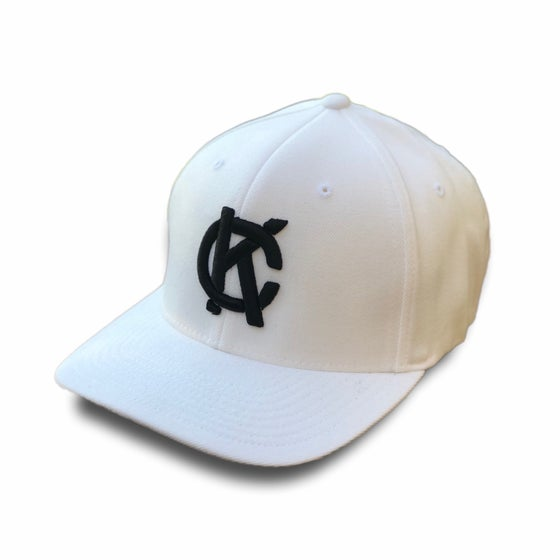 Image of KC Monogram fitted hat | white