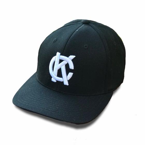Image of KC Mongram Fitted Hat | Black