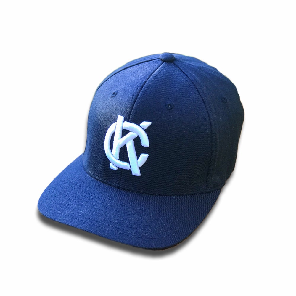 Image of KC Monogram Fitted Hat | Navy