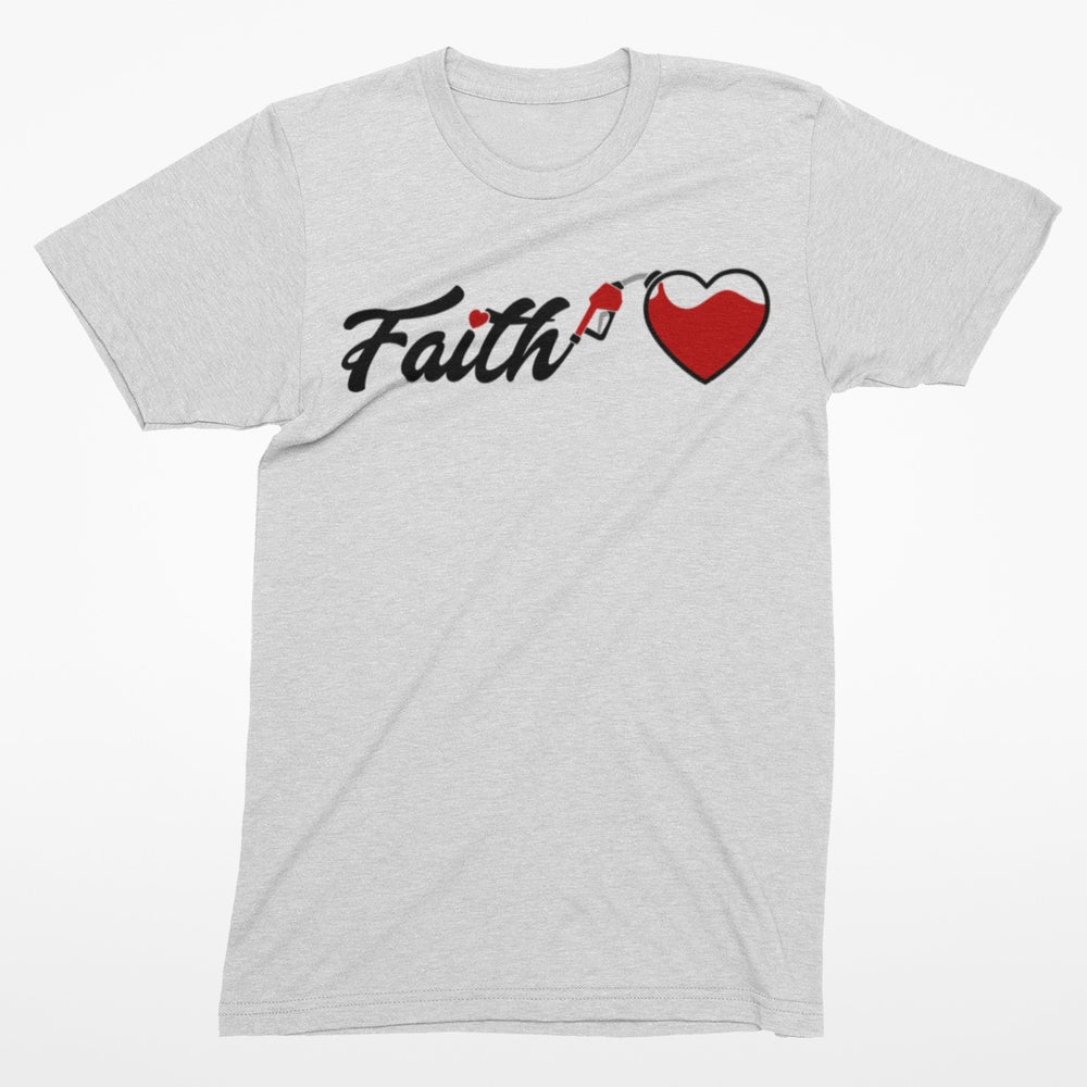 Image of Fueled by Faith Tee - White