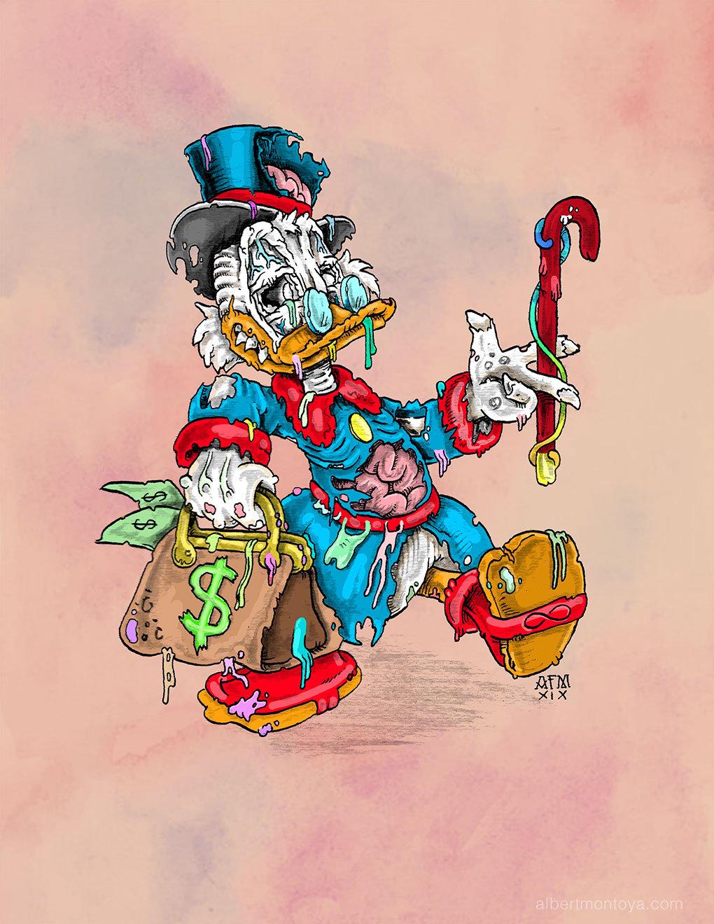 "Image of Print ""Undead Scrooge"""