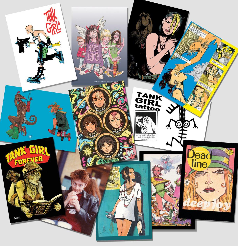 Image of Tank Girl & Friends Super Postcard Pack - 12 Art Cards!