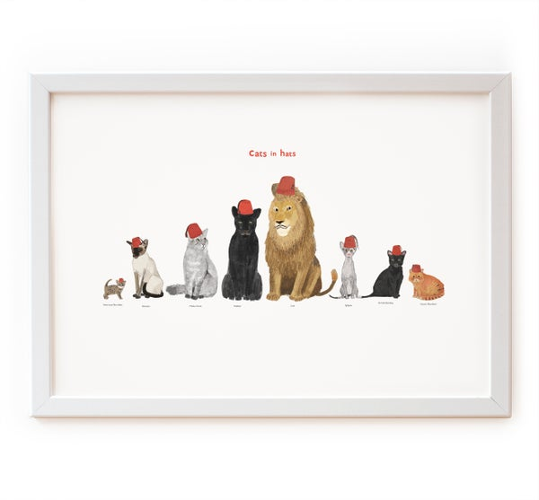 Image of Cats in Hats Print