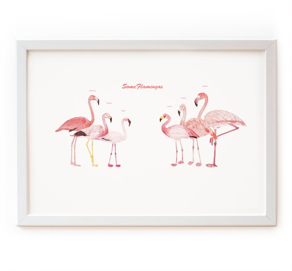 Image of Pink Flamingos Print