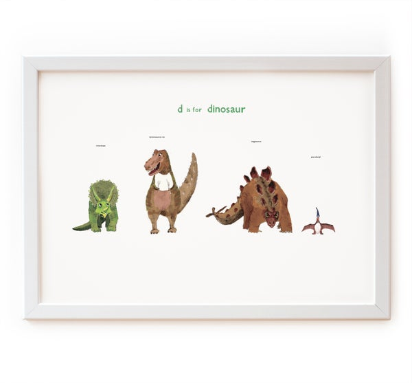 Image of D is for Dinosaur Print