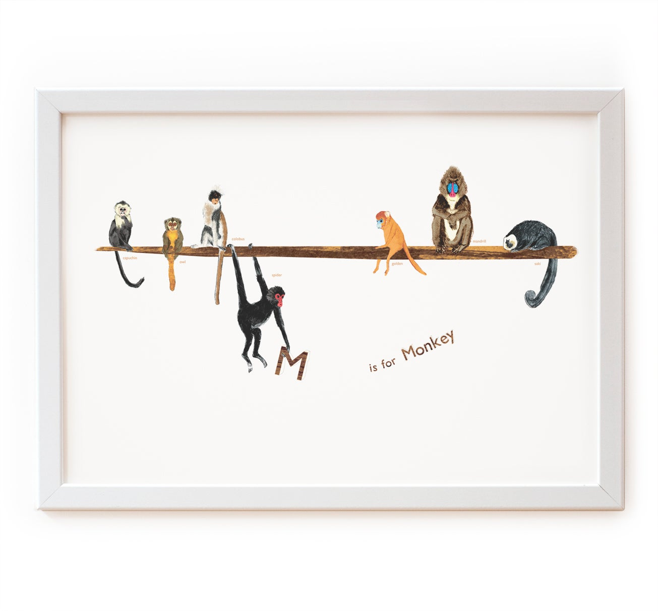 Image of M is for Monkey Print