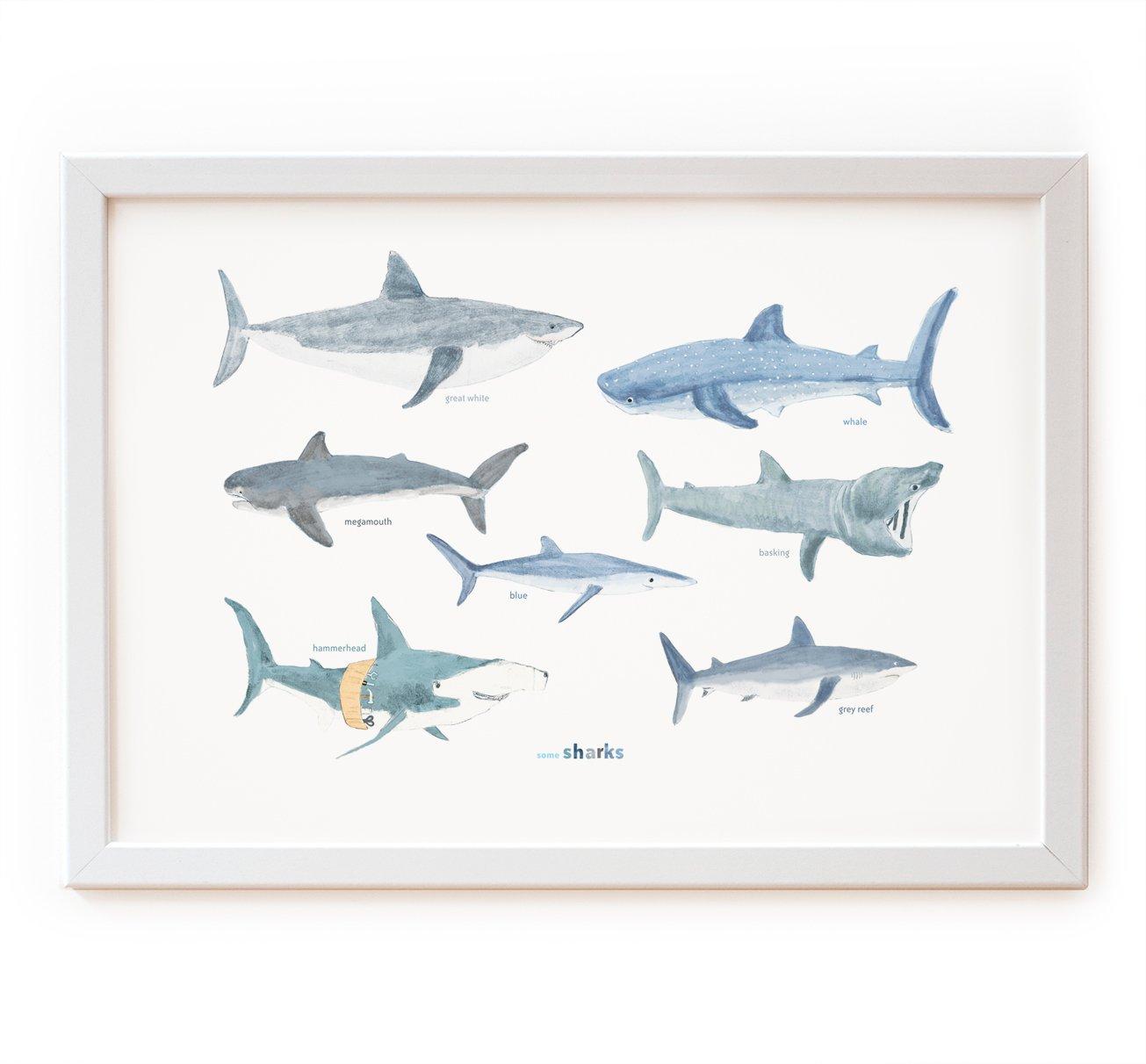 Image of Some Sharks Print